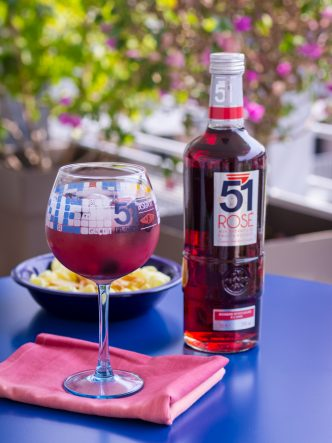 Cocktail Rosé piscine 51 aux fruits rouges
