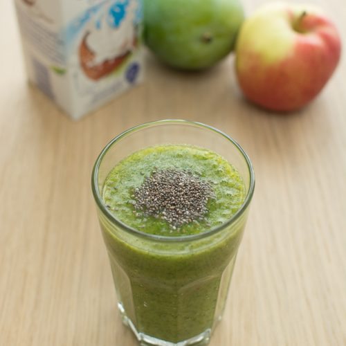 Smoothie Vert au kale et lait de coco
