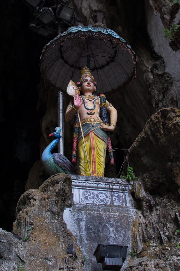 Statue dans le temple supérieur, Batu Caves