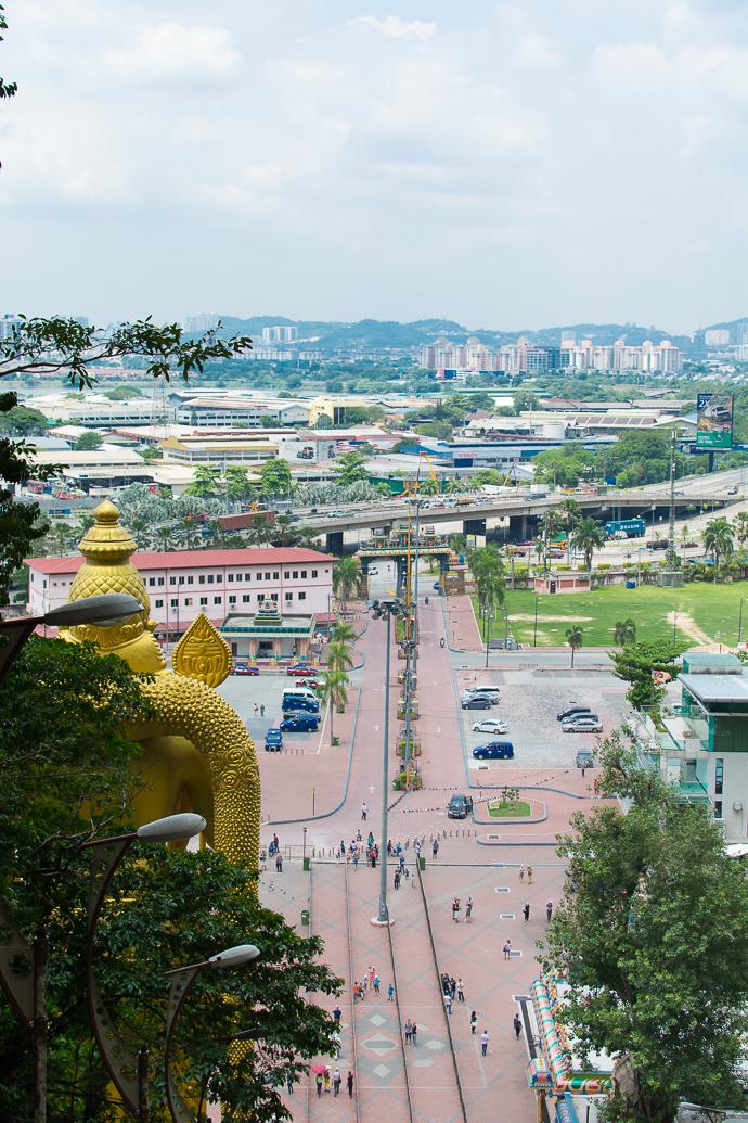 Vue imprenable sur la ville de Kuala Lumpur, Batu Caves