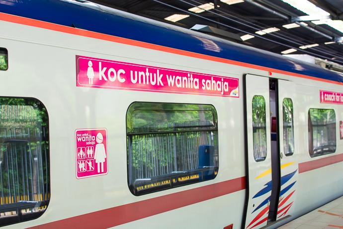 un wagon de train réservé aux femmes en Malaisie