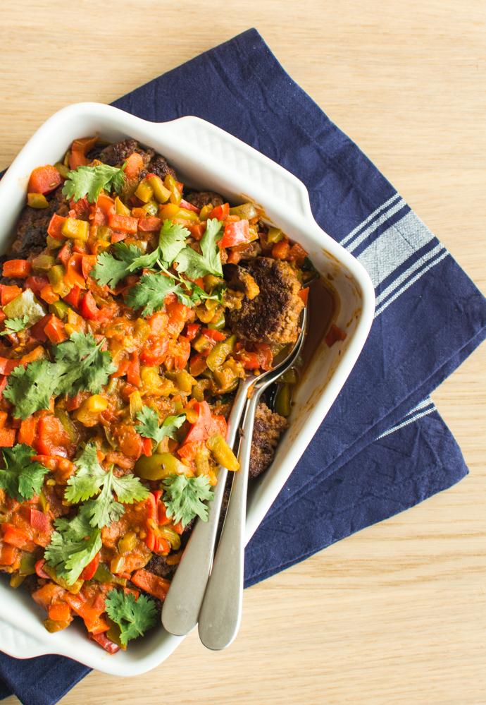 Kefta aux tomates et ses aubergines confites - recette algérienne