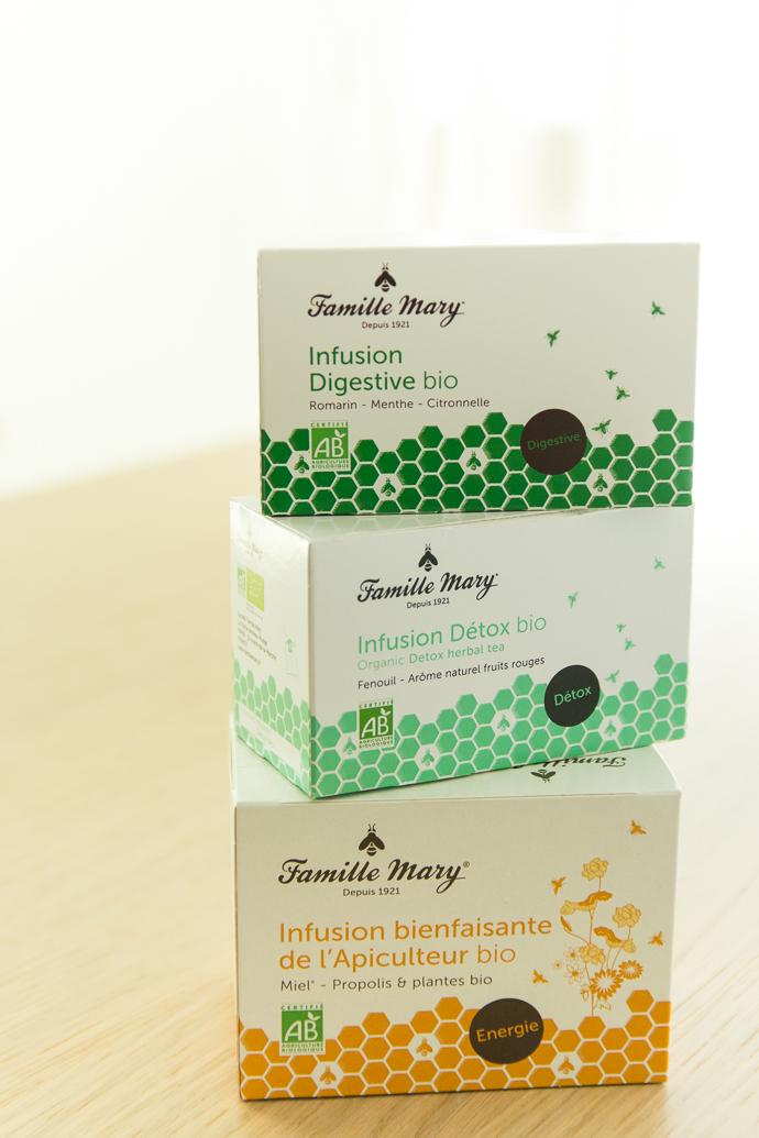 Thés bio de la famille Mary, des thés à base de miel
