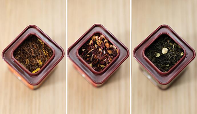Sélection de thés Dammann Frères : thé noir, rouge et vert