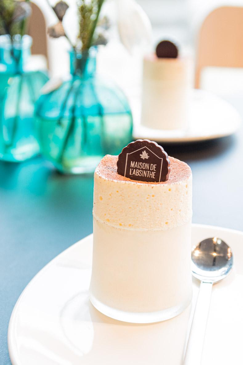 Soufflé glacé à l'Absinthe, sans lactose
