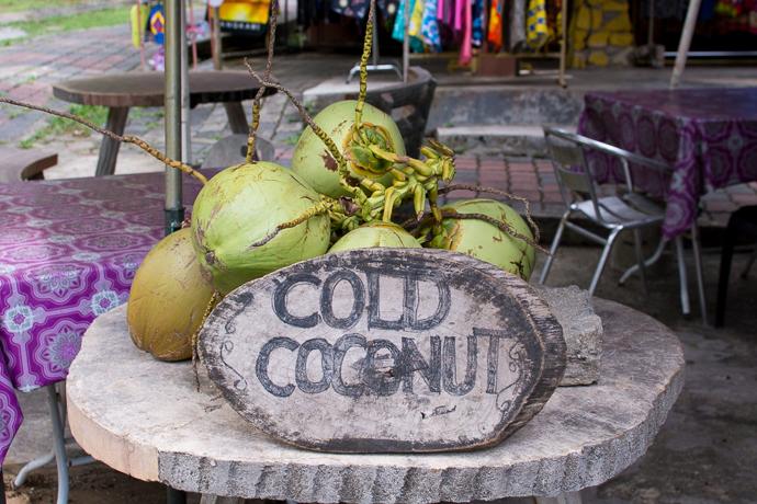 Des noix de coco fraîches, Langkawi, Malaisie