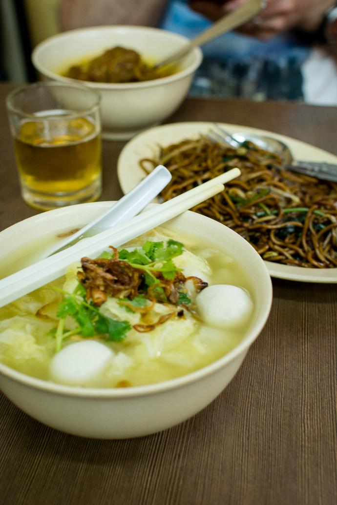 Une délicieuse soupe chinoise est servie au Nancy's Kitchen, Malaka, Malaisie