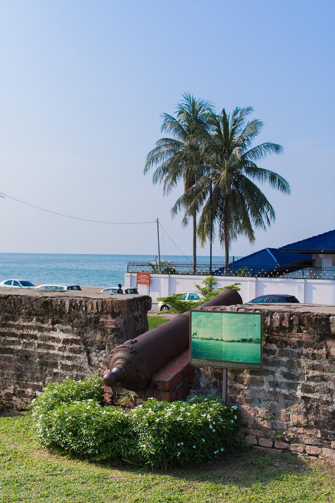 Canon pointé vers la mer, Fort Cornwallis, Penang, Malaisie