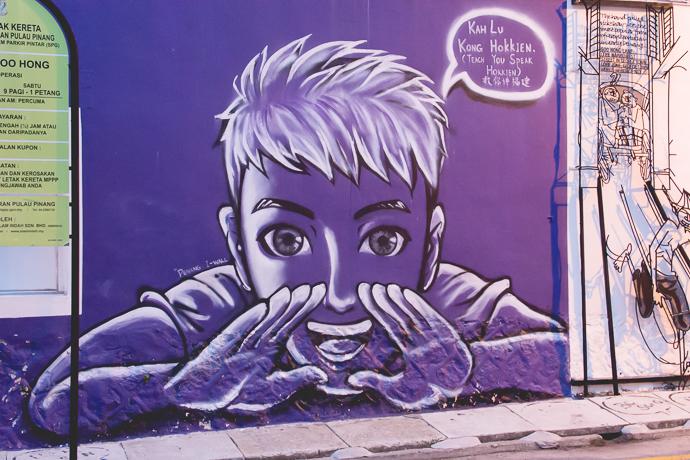 Street Art à Penang, un moyen sympathique de découvrir la ville