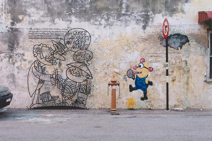 De la sculpture et du graffiti pour la ville de Penang