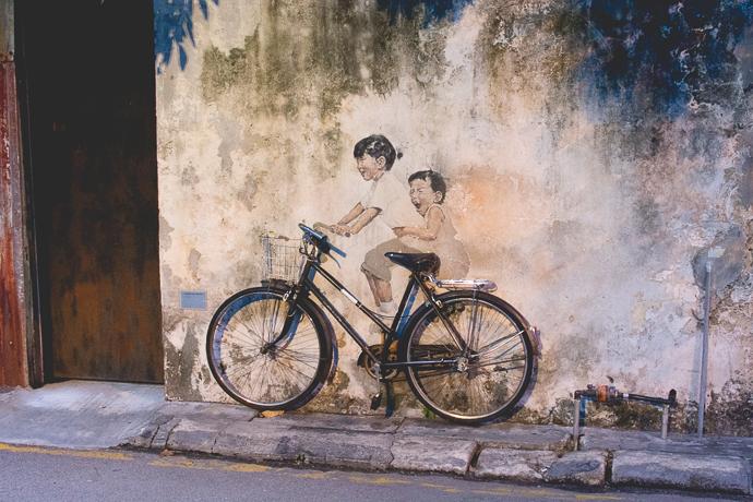 Parcours Street Art à Penang