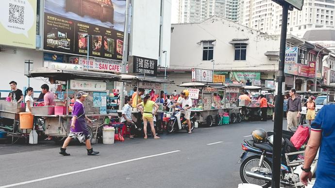Marché dans le quartier chinois de George Town Penang, Malaisie