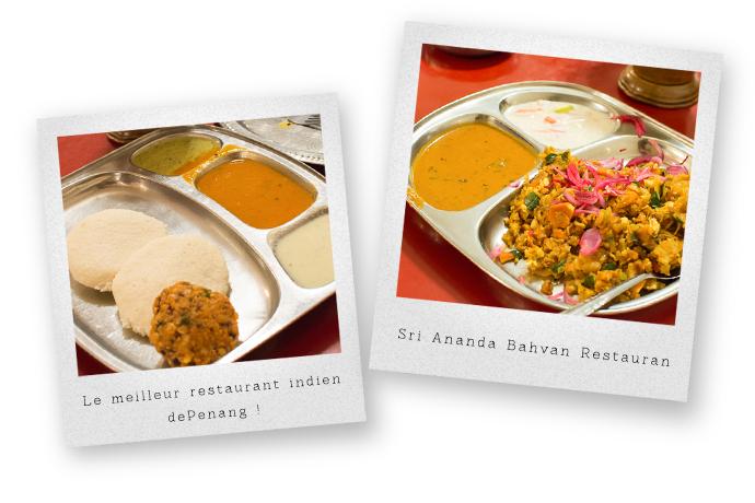 Gastronomie indienne, restaurant Sri Bhavan et Karaikud, Penang, Malaisie