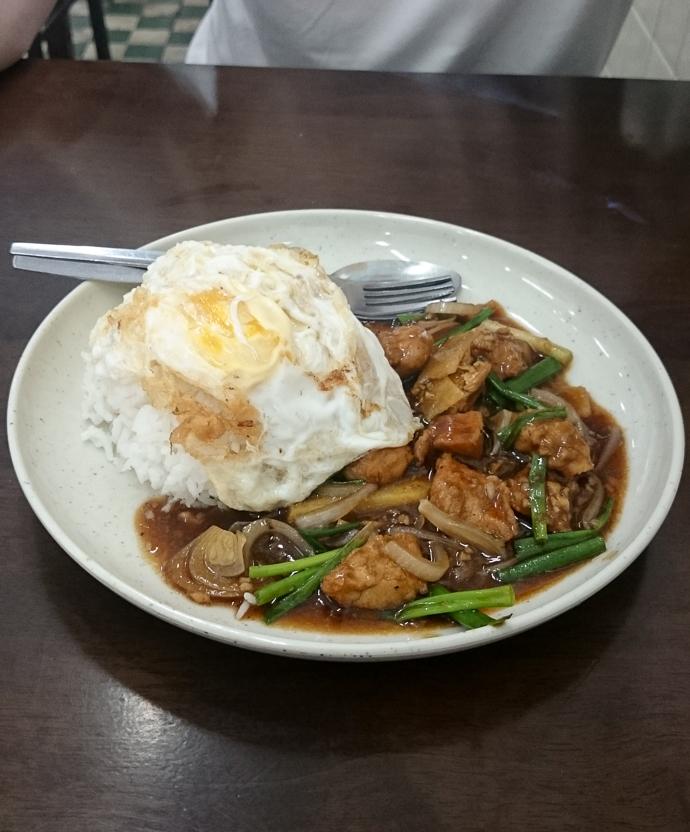 Nouilles sautées et oeuf , Penang, Malaisie