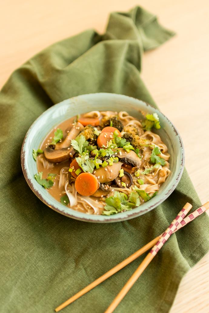 Recette de soupe de nouilles végétariennes