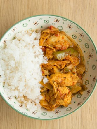 Recette de riz de konjac, poulet au poivrons - IG bas