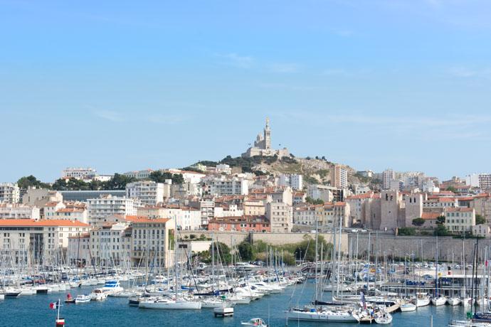 Port de Marseille et Basilique Notre Dame de la Garde