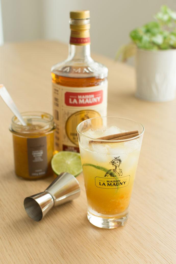 Cocktail au rhum ambré et à la marmelade - La Mauny