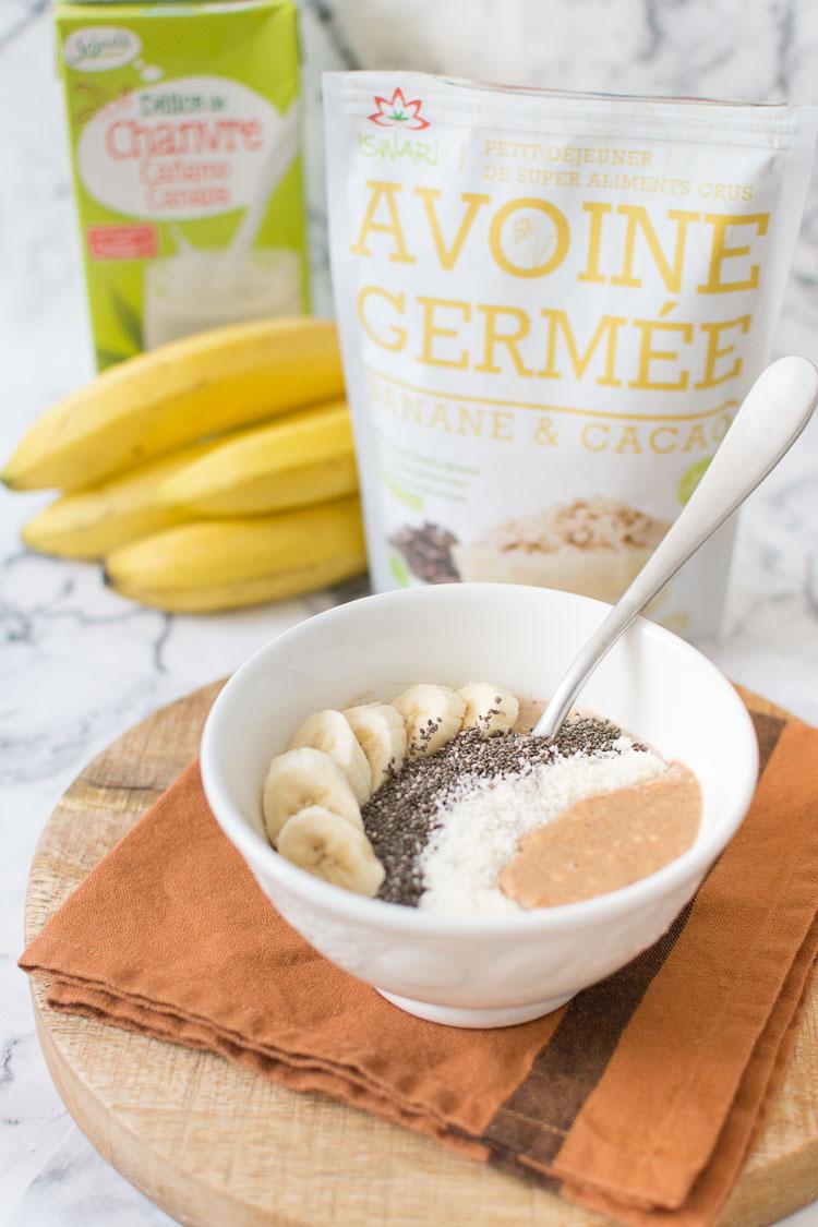 porridge-vegan-banane-chocolat-homemade