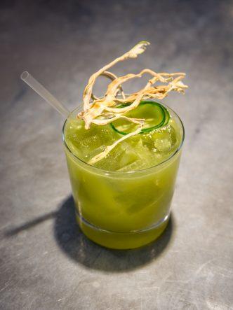 cocktail au gin et concombre