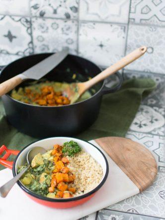 Curry végétarien idéal pour affronter la météo maussade de l'automne, hiver.