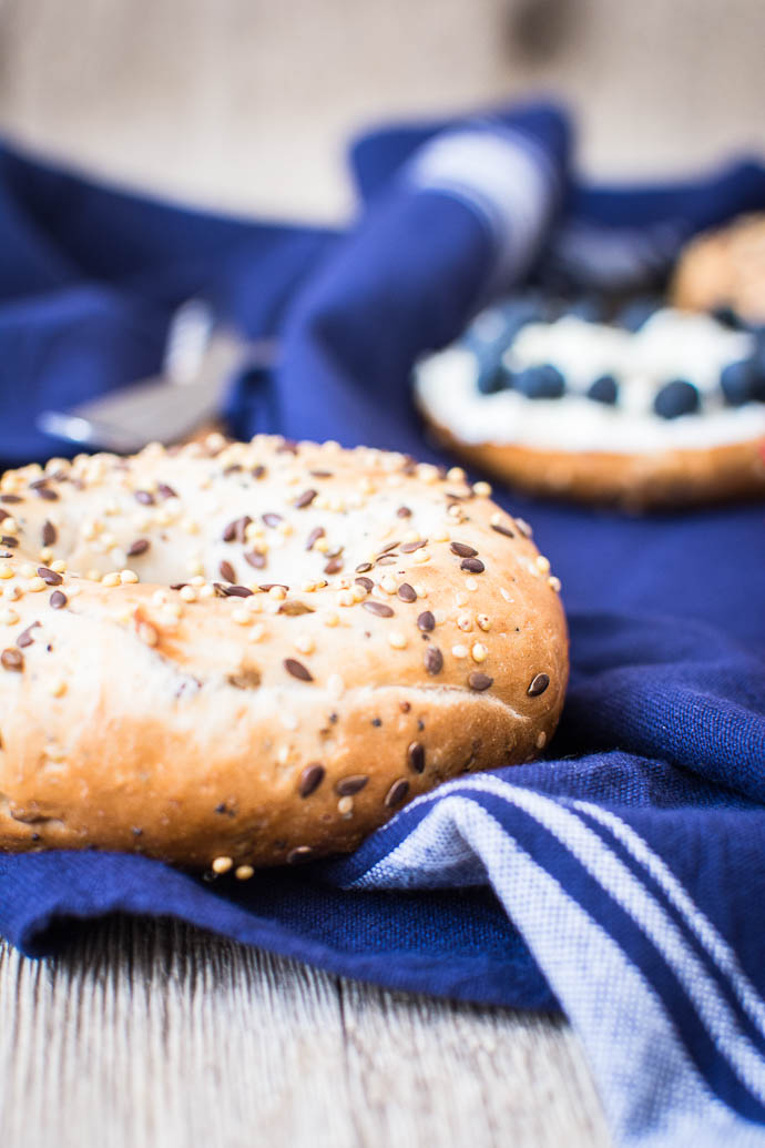 Bagel aux céréales de la New York Bakery