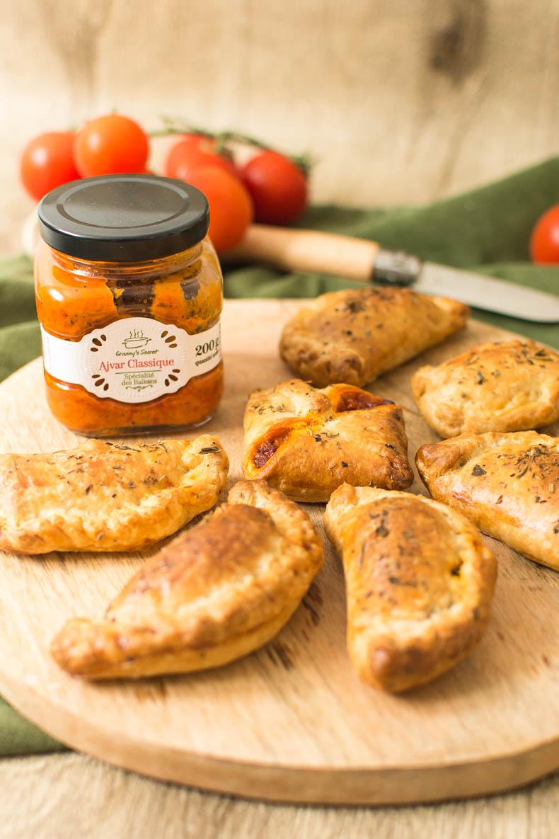 Empanadas veggie aux poivrons, tomates et haché végétal Fleury Michon