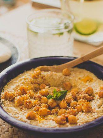 Fait Maison - tartinades de pois chiches aux épices de curcuma, piment et sésame