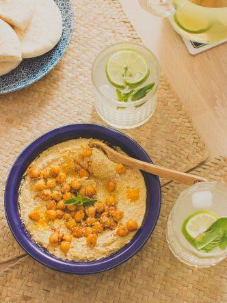 Recette facile pour l'apéritif - houmous aux épices