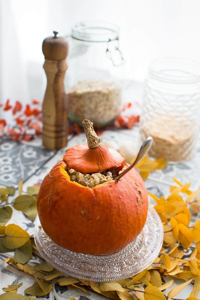 Courge d'automne : le potimarron sublimé par les champignons et la levure maltée