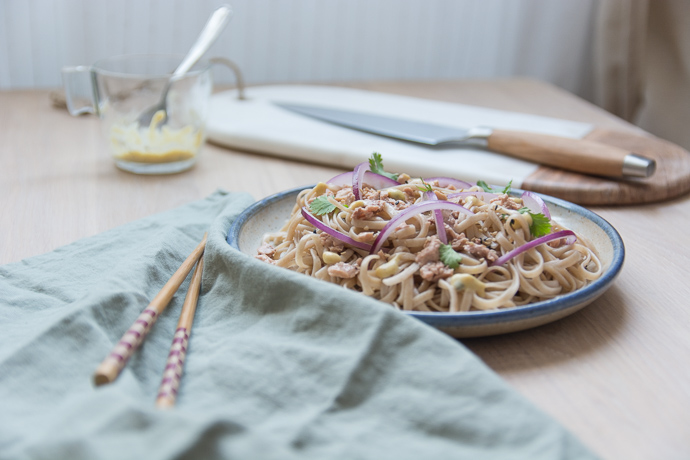 Oignons roue et moutarde truffée de chez Maille pour relever ce plat à base de foie de Morue