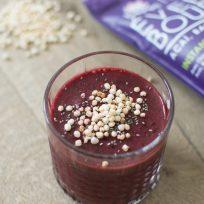 Recette Iswari de smoothie rouge aux superfoods coco, quinoa, açaï