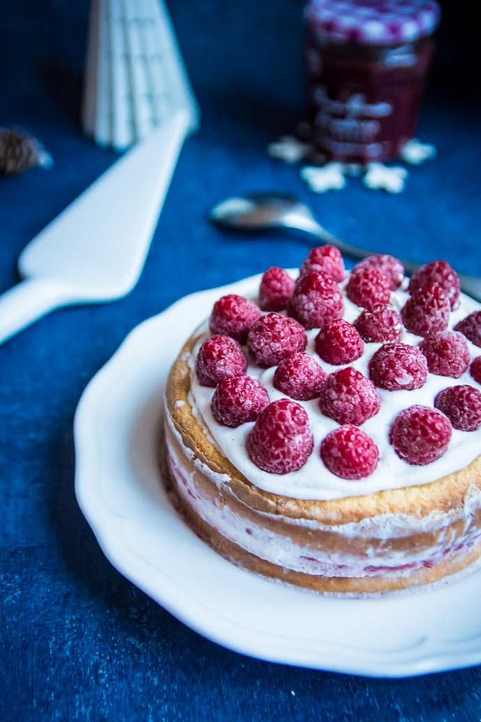 Gâteau à étages à la framboise Intense Bonne Maman