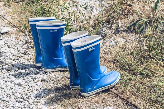 Des bottes de pluie pour aller visite les bords de mer et ses délicieuses huitres de chez Perles de Jade