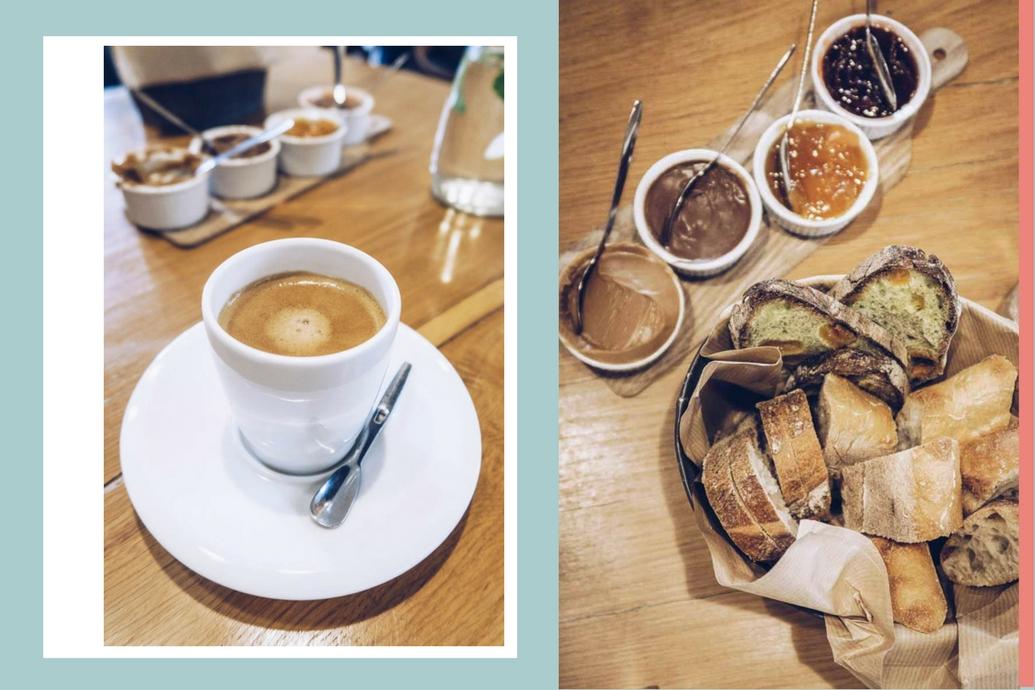 Un café et du pain de MOF Anthony Bosson pour commencer - brunch atelier Carnem