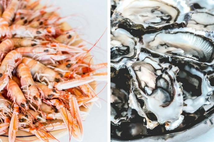 Le Muscadet s'accorde très bien avec les fruits de mer comme les huîtres et les langoustes