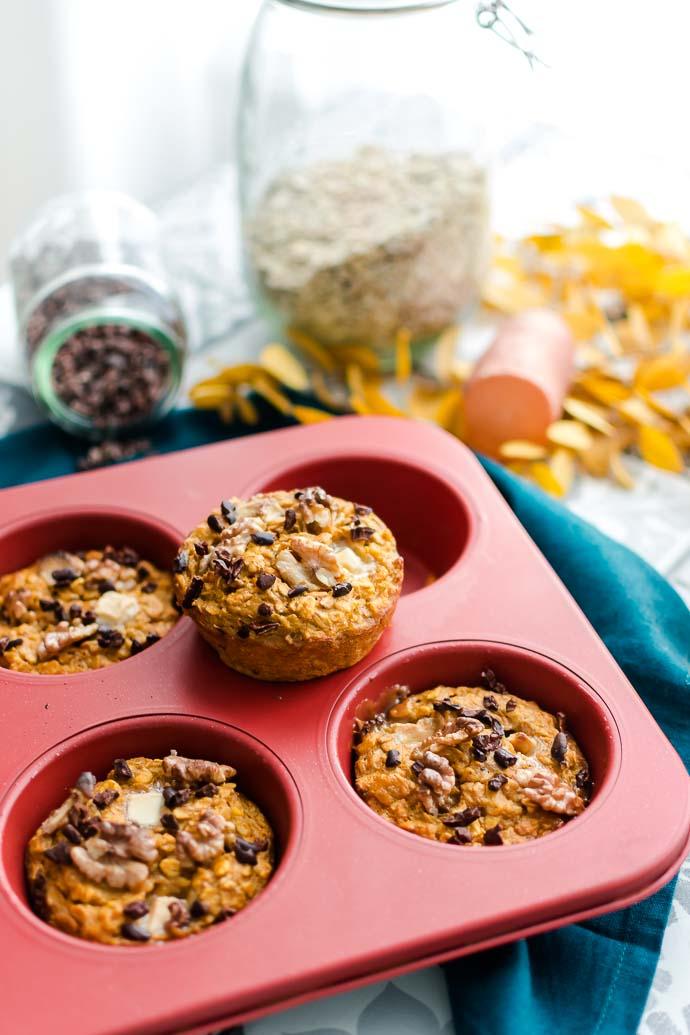 En version individuelle ou plat familial, ces gâteaux de patates douces seront vos alliés du matin