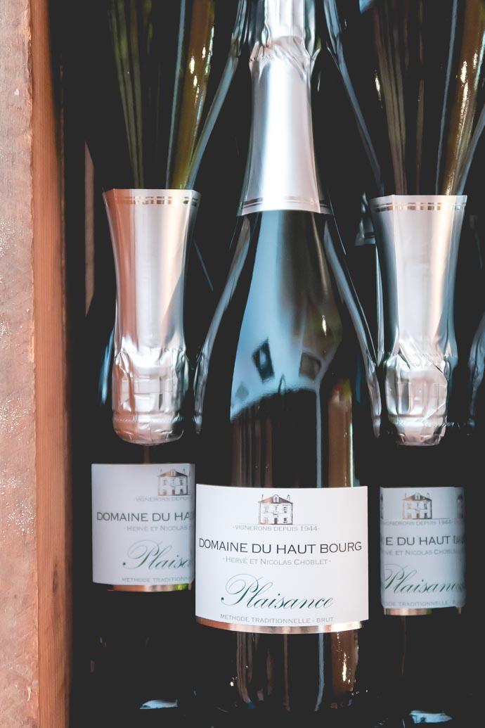 Bouteille de vin pétillant du Muscadet - Domaine du Haut Bourg