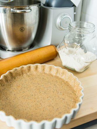 Faire une pâte à tarte salée à l'aide d'un robot pâtissier