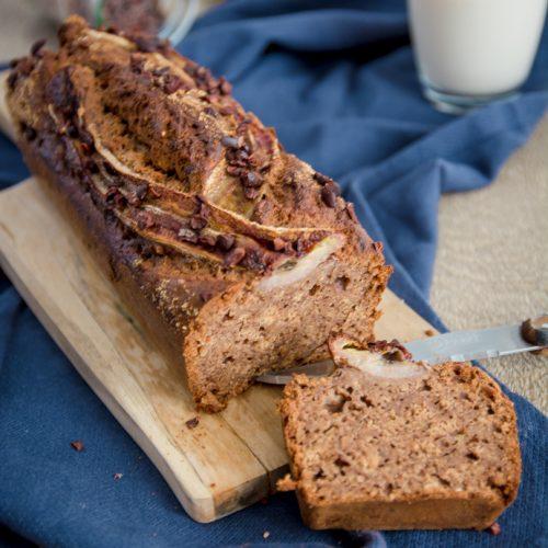 Banana bread, moelleux, facile à faire et sans lactose ni sucres raffinés