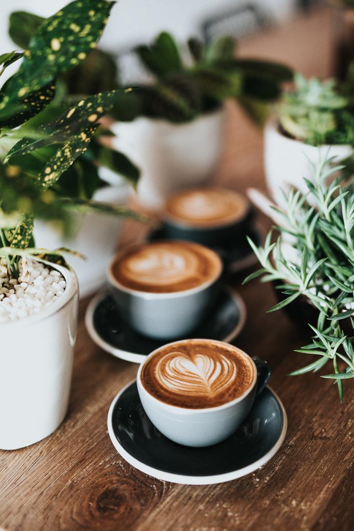 Un café latte végétal pour bien commencer la journée