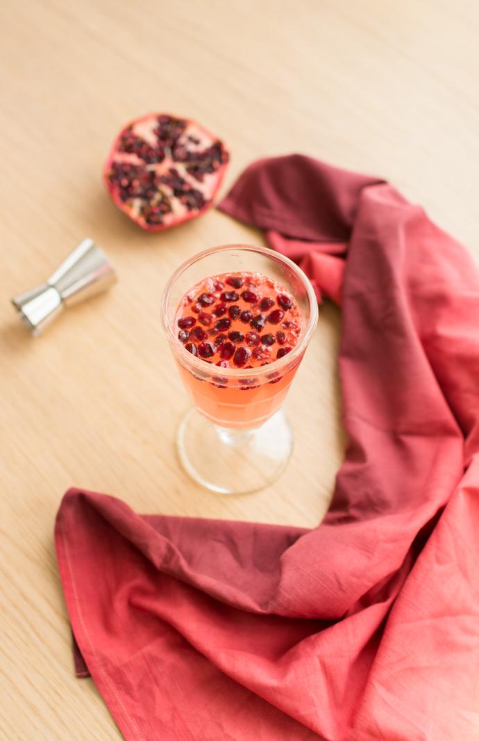 Cocktail Gin et Grenade