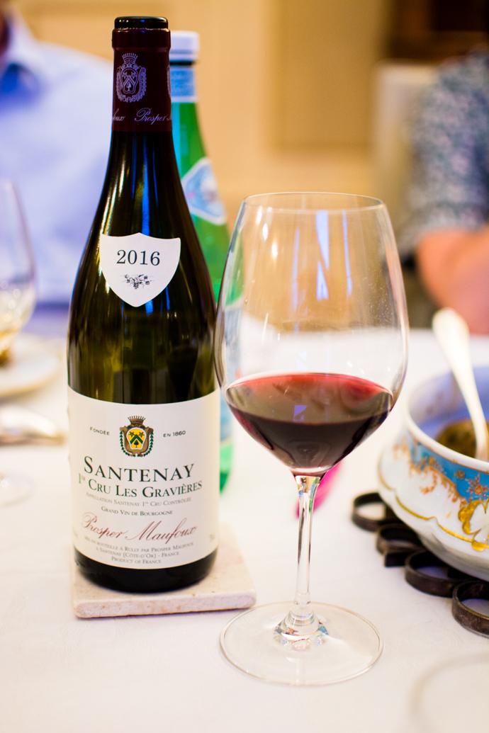 Dégustation de vins, Prosper Maufoux, Santenay, Bourgogne