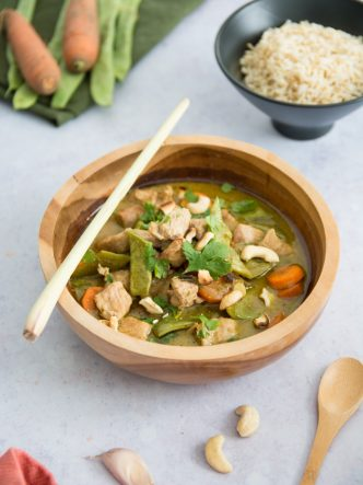 Recette de poulet au curry vert thaïlandais