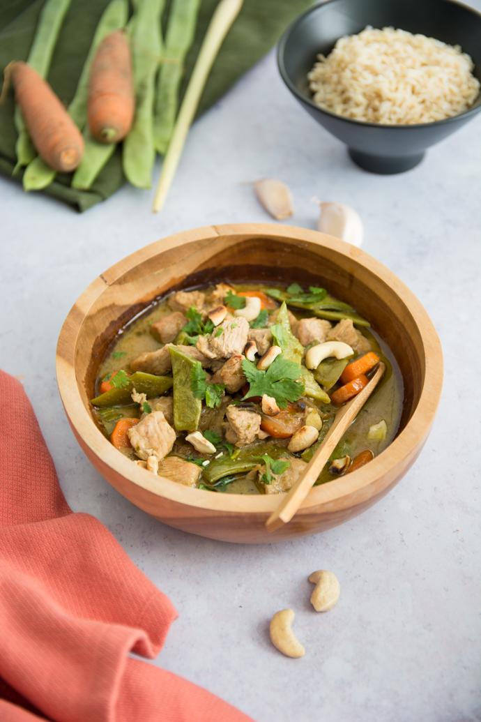 Poulet au curry vert - recette thaïlandaise