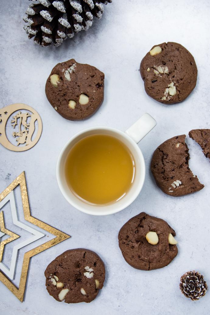 Cookies au cacao, beurre de cajou et noix de macadamia - sans lactose