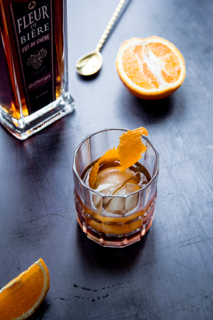 Cocktail Sazerac à base de Fleur de Bière Fût de Chêne et Absinthe