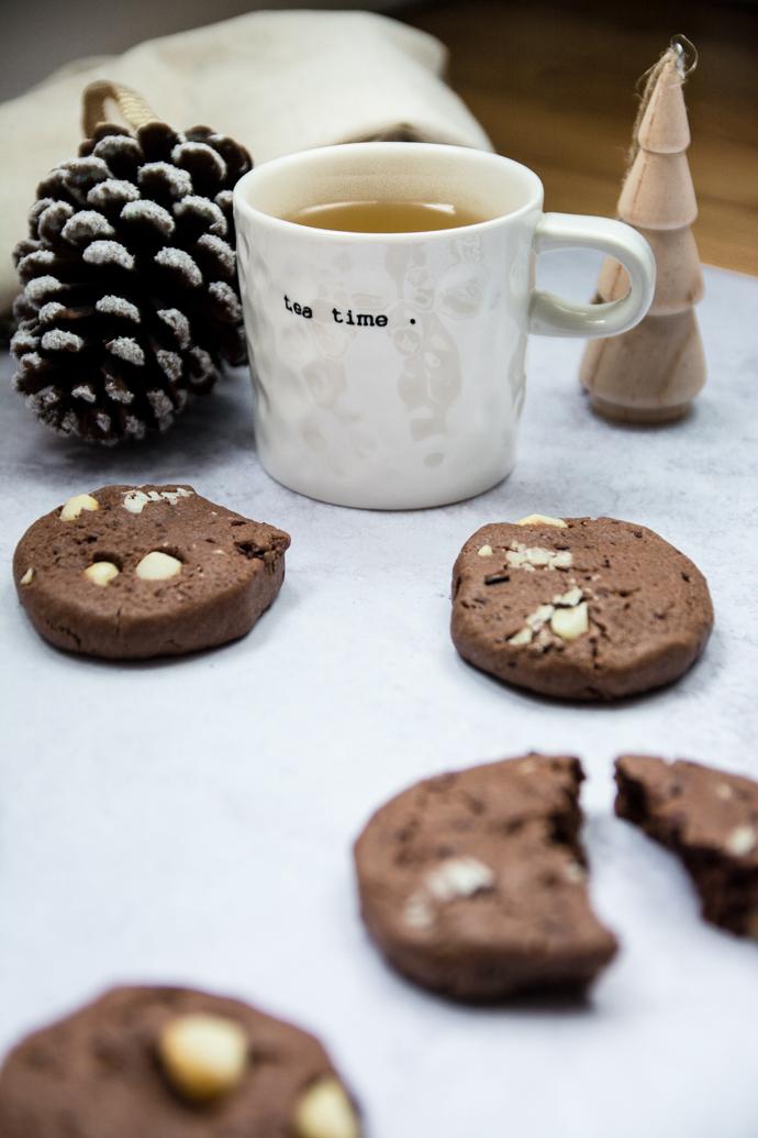 Cookies au cacao et noix de macadamia - sans lactose