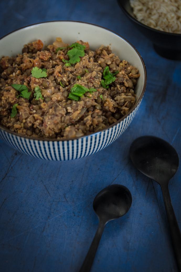 Curry de lentilles corail et vertes