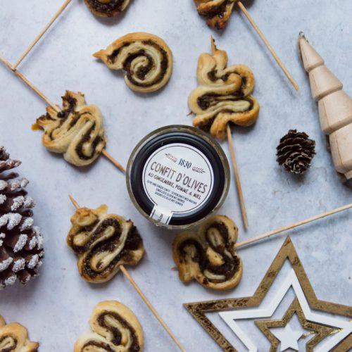 Sapin de Noël feuilletés aux olives noires, gingembre et miel - Maison Brémond